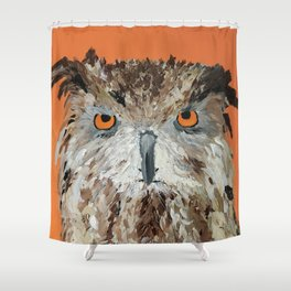 Wise Owl.  Hootie, Who, Who Shower Curtain