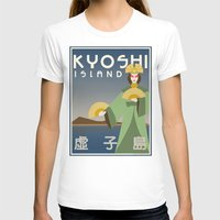 airbender T-shirts featuring Kyoshi Island Travel Poster by HenryConradTaylor