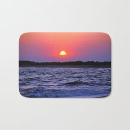Colorful Cape May Sunset Bath Mat