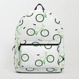 Environmentally Friendly Eco-Green Bicycle Hipster Design Backpack