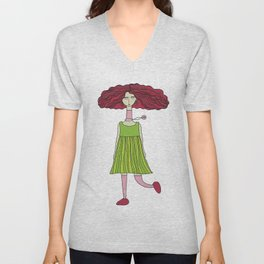 Intuition is a Girl's Best Friend Unisex V-Neck