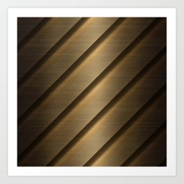 Copper Brass Metal Pipe Art Print