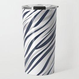 Abstract grey white pattern . Travel Mug