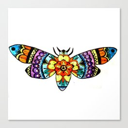 Moth Mandala Canvas Print