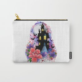 Halloween Spooky Castle Watercolor Design Carry-All Pouch