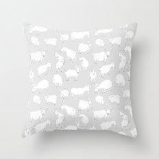 Charity fundraiser - Grey Goats Throw Pillow