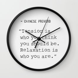 Chinese Proverb Wall Clock