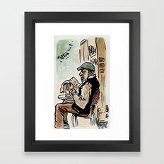 Il vecchio de la Garbatella - the old man from Garbatella Framed Art Print