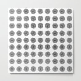 Black and White Mandala | Secret Geometry Metal Print