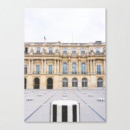 Buren's Columns, Le Palais Royal Courtyard, Paris, France Canvas Print