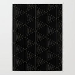 Modern Black Triangle Pattern Poster