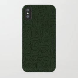 Loops & Curves - Green iPhone Case