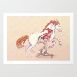 Signe du cheval Art Print