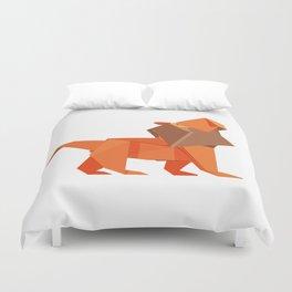 Origami Lion Duvet Cover