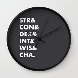Dungeons and Dragons Abilities Wall Clock