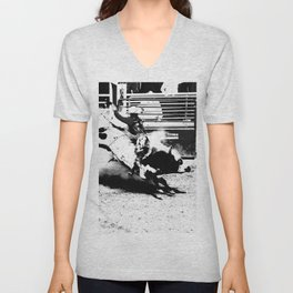 Bull Riding Champ Unisex V-Neck
