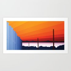 St. Ives  Sunset Two Art Print