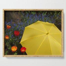 Yellow Umbrella Serving Tray