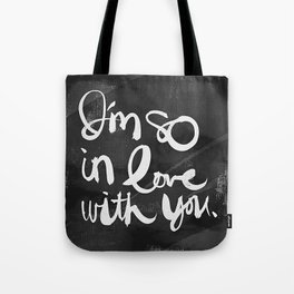 So In Love (Charcoal) Tote Bag