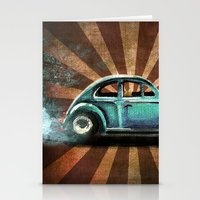 volkswagon Stationery Cards featuring Punch Bug by Cindy Thornton