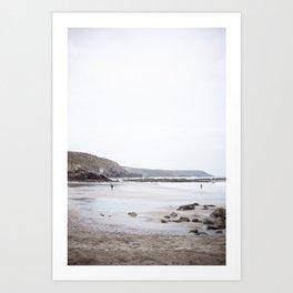 Blue Cornish Beach Art Print
