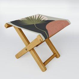 Tropical Leaf- Abstract Art 5 Folding Stool