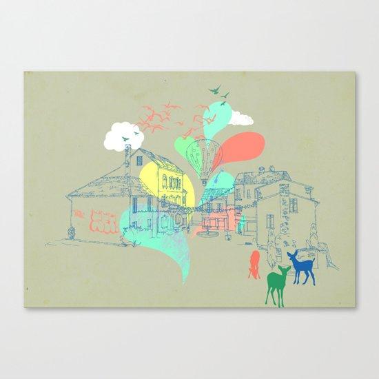 my french village Canvas Print