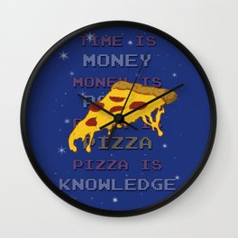 PizzaIsKnowledge Wall Clock