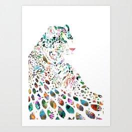 Leo (with diamonds) Art Print