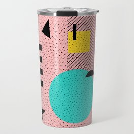 Hello Memphis Peach Berry Travel Mug
