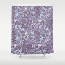 Hellebore lineart florals | soft winter Shower Curtain