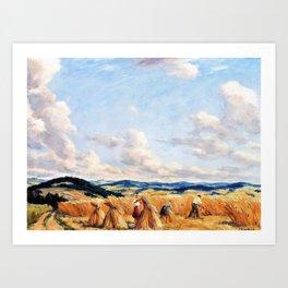 Harvest in the Czech-Moravian Highlands - Tavik Frantisek Simon Art Print