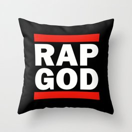 RAP GOD Throw Pillow