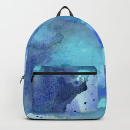 Blue Abstract Watercolor Painting Backpack