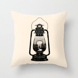 THE PATH MAY BE DARK BUT THE SUN WILL ALWAYS RISE Throw Pillow