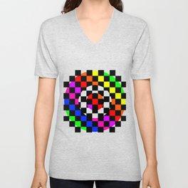 Triggle | Colorful Secret Geomoetry | Play Unisex V-Neck