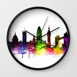 Colorful London Wall Clock