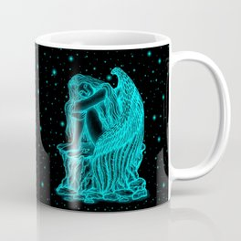 A sleeping Angel , black and green Design Coffee Mug