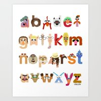 The Great Muppet Alphabet (the sequel) Art Print