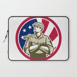 American Carpenter USA Flag Icon Laptop Sleeve