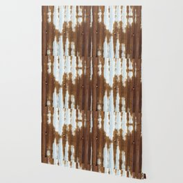 Rusted Corrugated Tin rustic decor Wallpaper