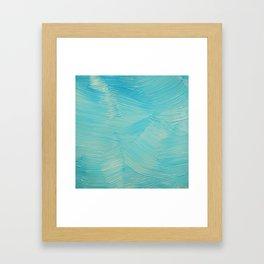 Blue paint streaks Framed Art Print