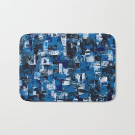 Blue Blade Painting Bath Mat