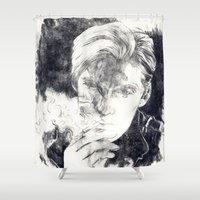 smoke Shower Curtains featuring Smoke by Anna Tromop Illustration