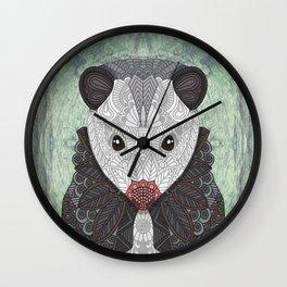 Ornate Opossum Wall Clock