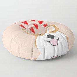 Valentines - Love Corgi  Floor Pillow