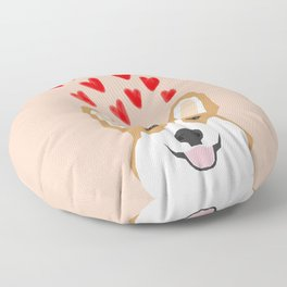 Valentines - Love Corgi  Floor Pillow