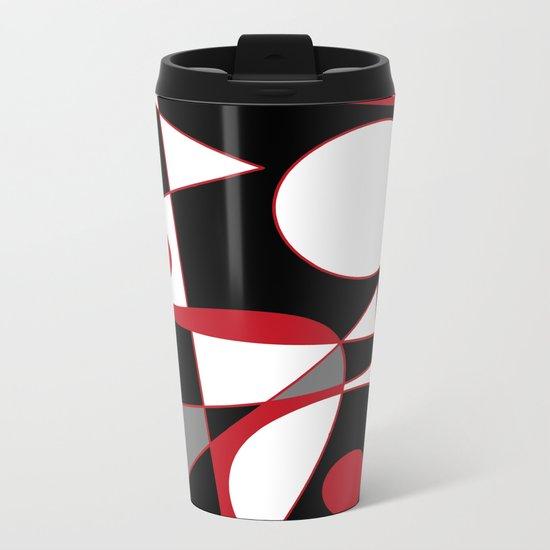 Abstract #185 Metal Travel Mug