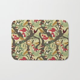 North American Forest Pattern (Natural) Bath Mat
