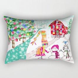 Snowgirl Rectangular Pillow